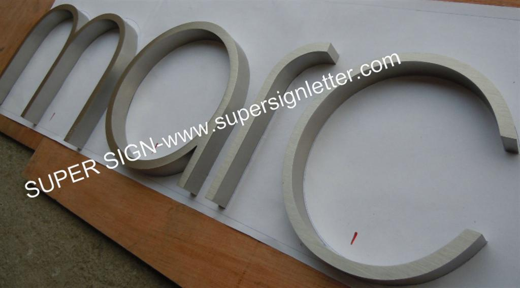 brushed stainless steel letters 04