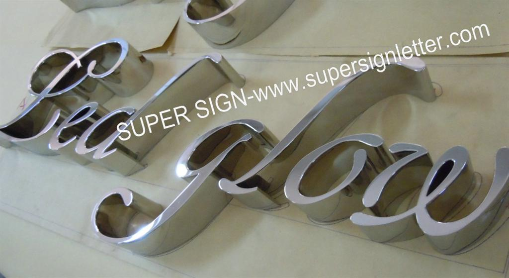 3D polished stainless steel letters 09