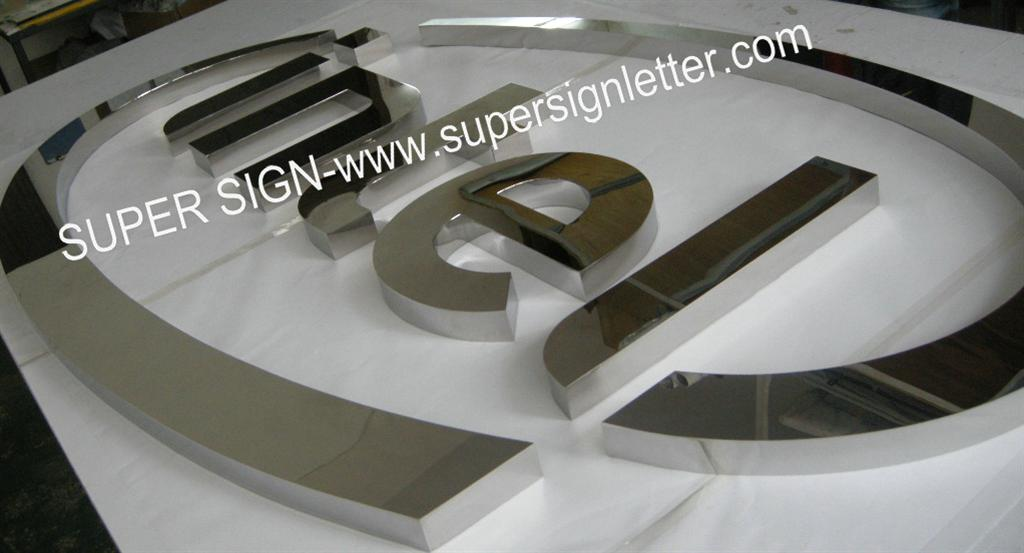 polished mirror stainless steel signage11