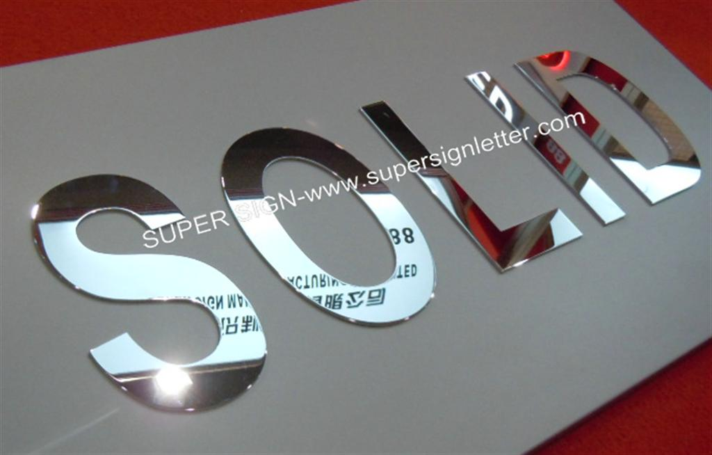 Flat Cut Metal Letters Flat Cut Stainless Steel Lettersflat Cut Polished Stainless Steel