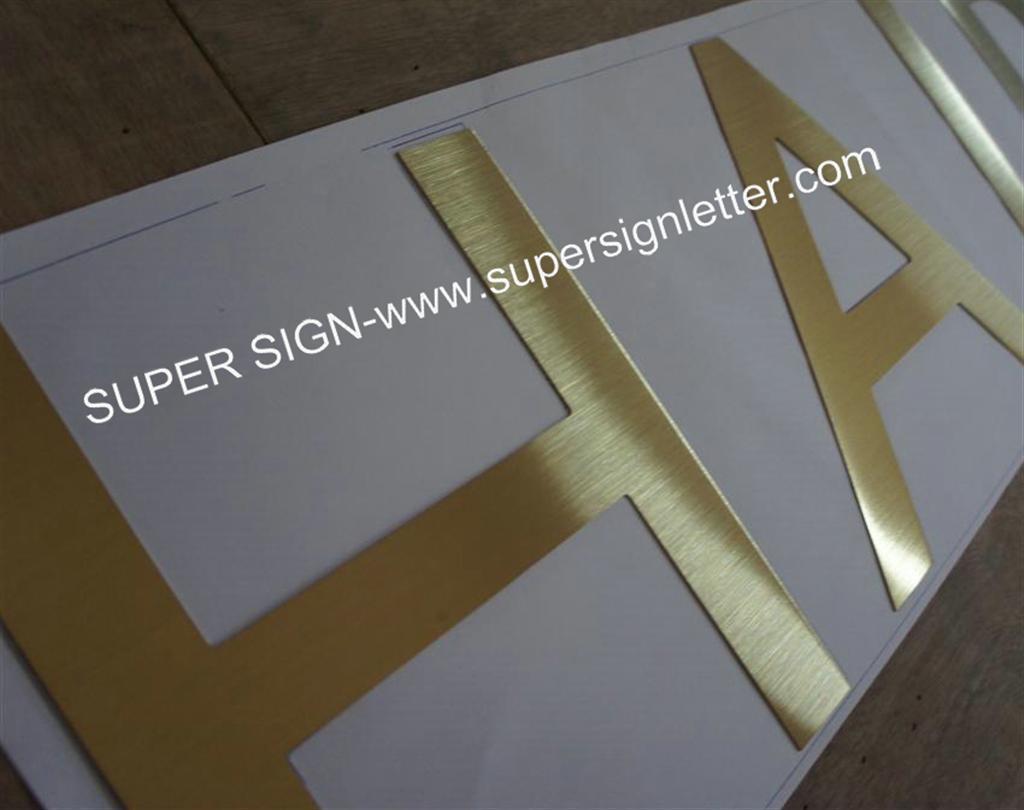316 golden brushed steel letters 02
