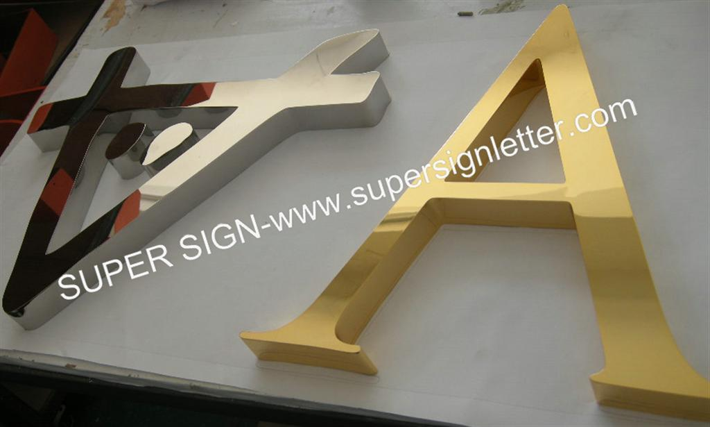 golden polished stainless steel letters 01