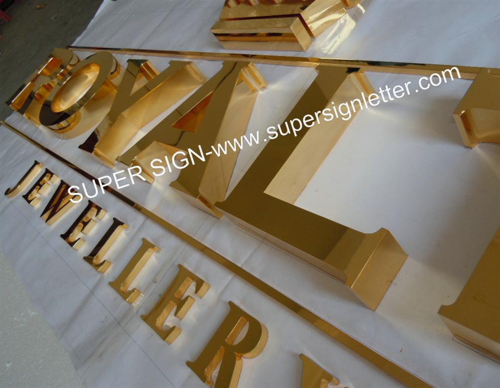 golden polished stainless steel letters 02