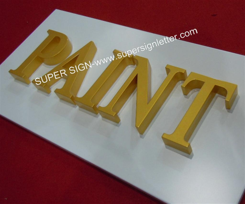 Painted acrylic letters 01
