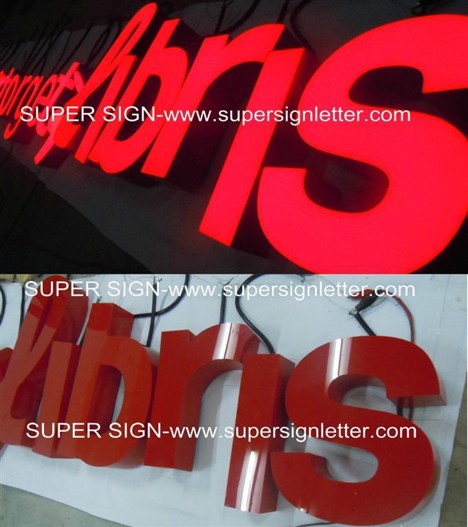 facelit LED letters sign
