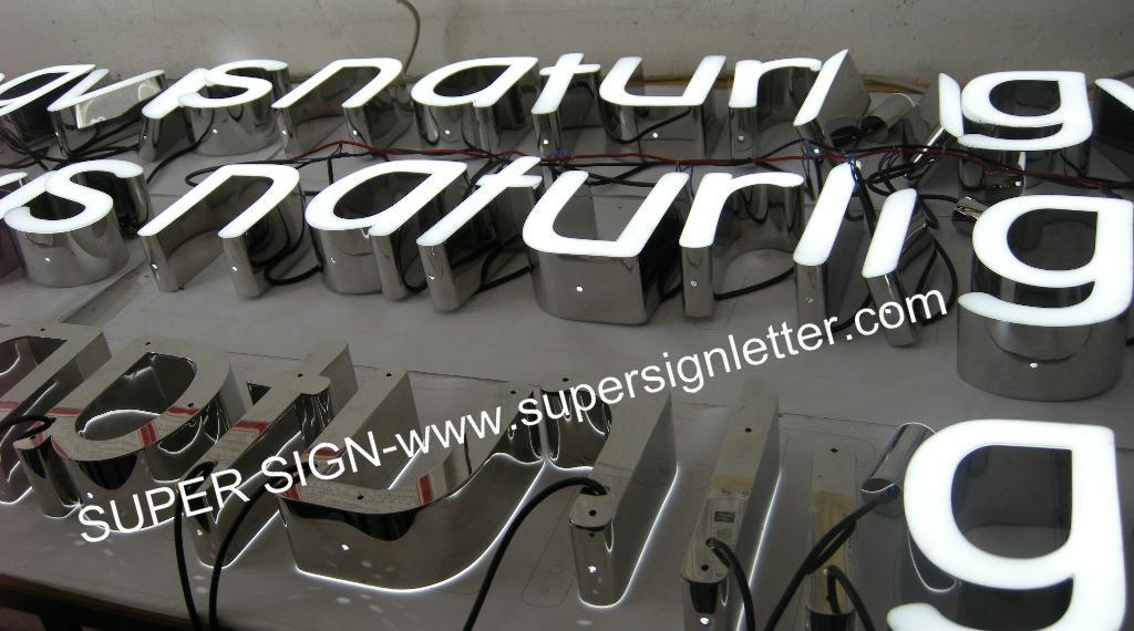 frontlit LED channel lettering