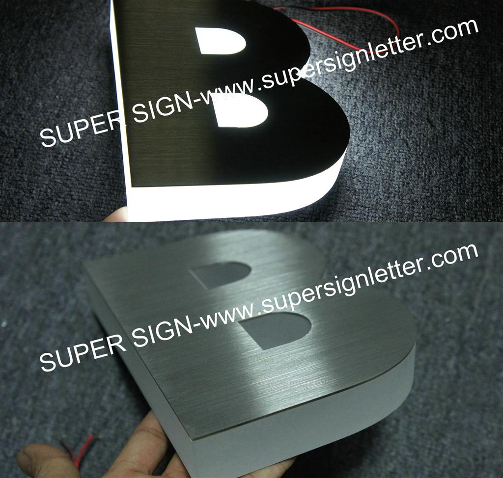 Sidelit LED letters