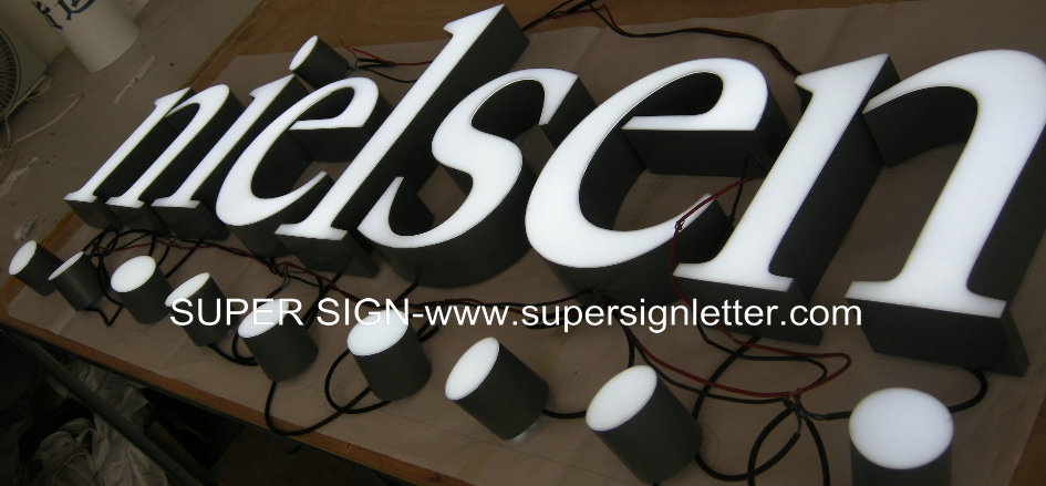 frontlit LED channel letters